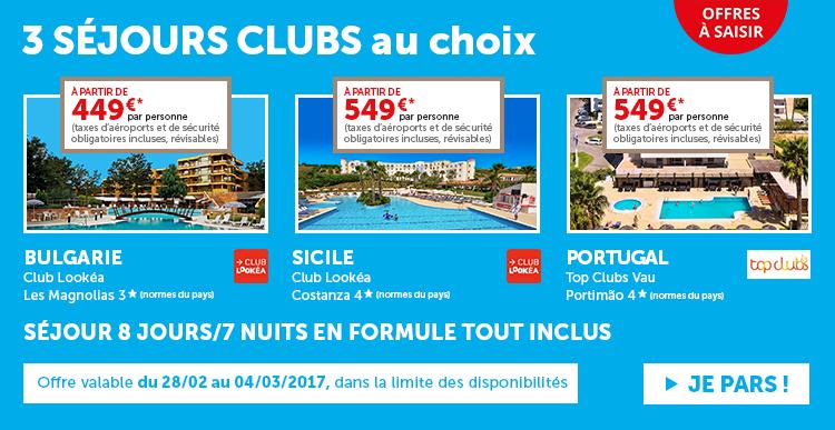 SÉJOURS CLUBS